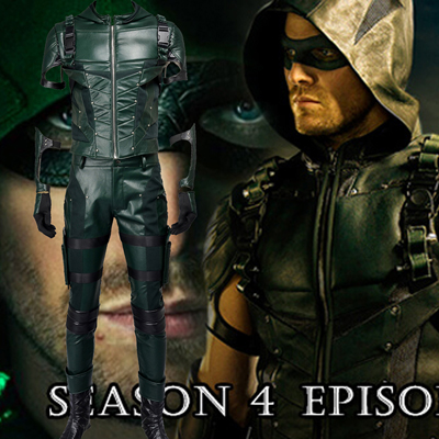 Arrow IIII Oliver Queen Green Cosplay Kostymer