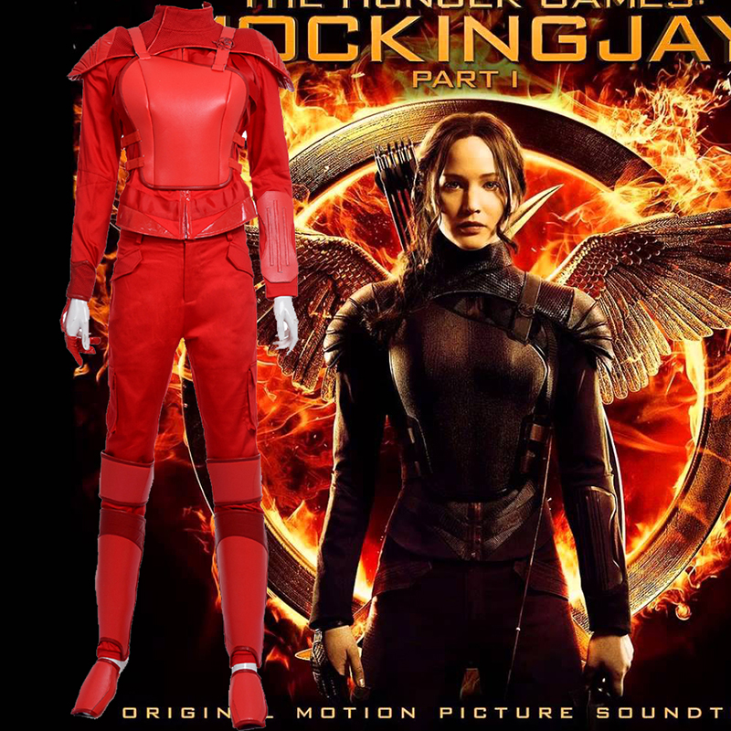 The Hunger Games Mockingjay Part 2 Cosplay Halloween Kostýmy červená