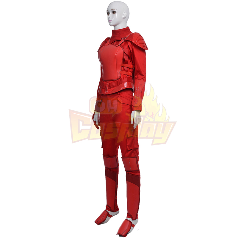 Fantasias de The Hunger Games Mockingjay Part 2 Cosplay Halloween Vermelho
