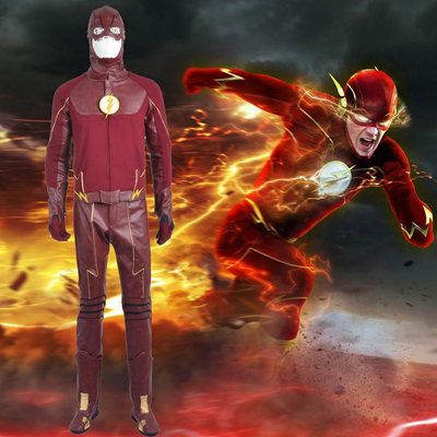 The Flash II Barry Allen Cosplay Halloween Kostymer