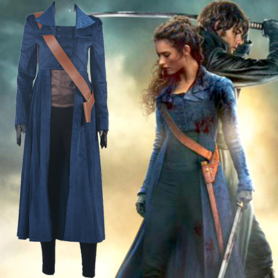 Pride and Prejudice and Zombies Elizabeth Cosplay Halloween Karneval Kläder