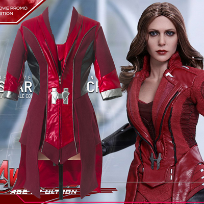 Fantasias de Avengers Scarlet Witch Cosplay Halloween