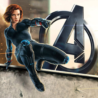Avengers Black Widow Cosplay Kostymer