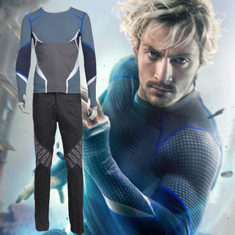 Avengers Quicksilver Cosplay Kostymer