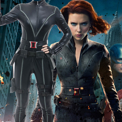 Avengers 1 Black Widow Cosplay Costumes