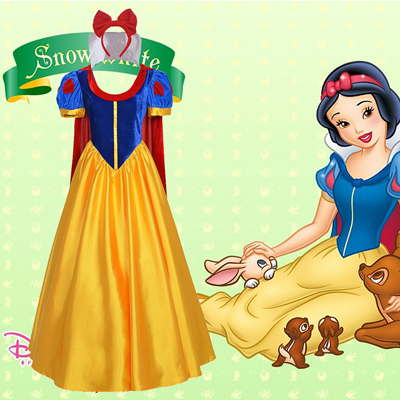 Disney Snow White Cosplay Karneval Kläder