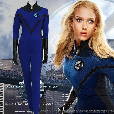 Fantastic Four 4 Invisible Woman Cosplay Kostumi