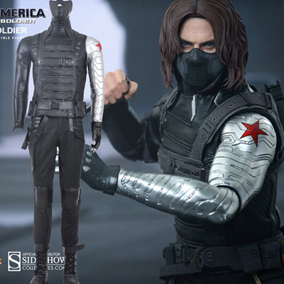 Captain America Winter Soldier Cosplay Karneval Kläder