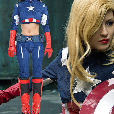 Captain America Female Cosplay Kostymer