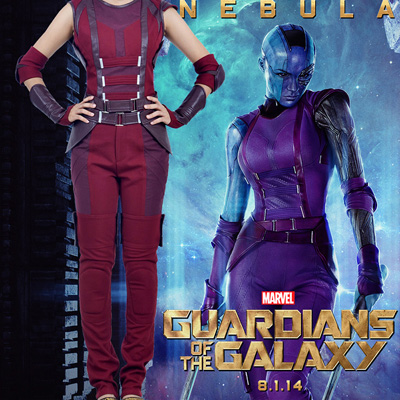 Costumi Carnevale Guardians of the Galaxy Nebula Cosplay