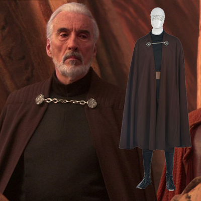 Fantasias de Star Wars Count Dooku Cosplay