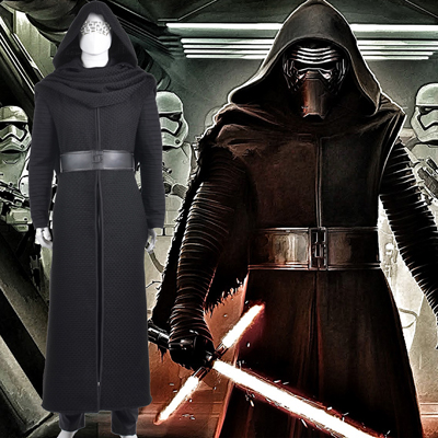 Star Wars 7 Kylo Ren Cosplay Karneval Kläder For Adult