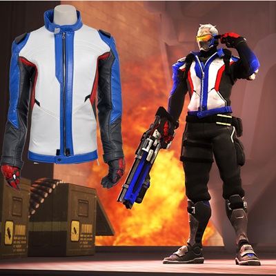 Ow Overwatch Soldier 76 Cosplay UK Costumes Jacket