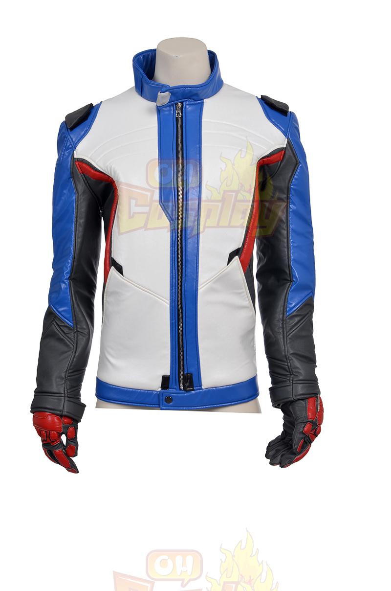 Ow Overwatch Soldier 76 Cosplay Kostymer Jakke