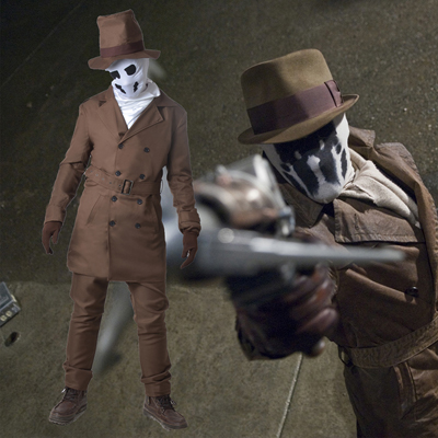 Watchmen Rorschach Brown Suit Cosplay Karneval Kläder