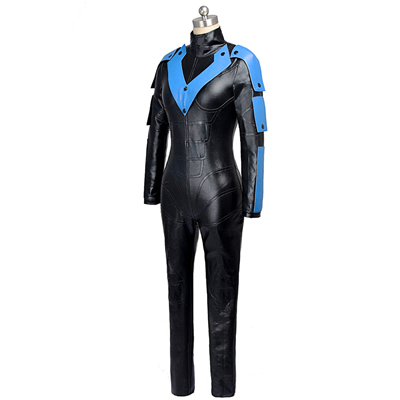 Batman: Arkham City NightWing Zentai obleka Moški Cosplay Halloween Kostumi