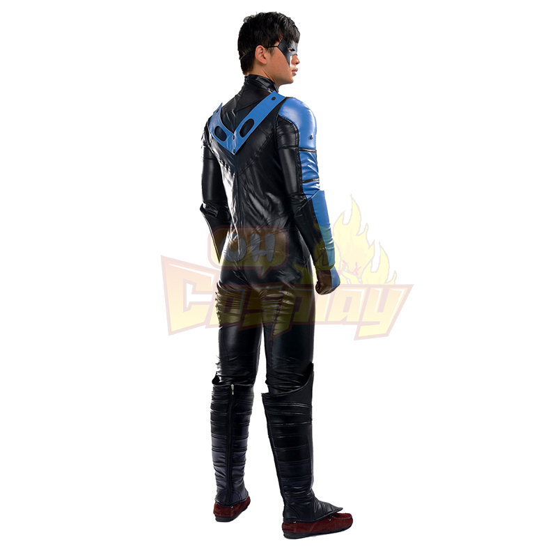 Batman Arkham City NightWing Hele Kjemmet t Cosplay Kostymer For Men Fult sett