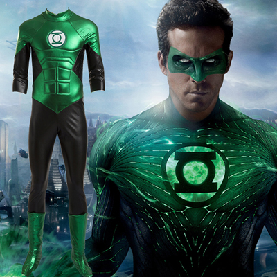 Moive Green Lantern Cosplay Kostumer Fuld Sorter Customized Halloween Clothing