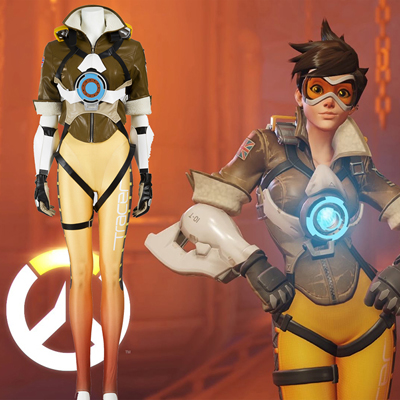 Ow Overwatch Tracer Cosplay Zentai Suit Costumes Full Set