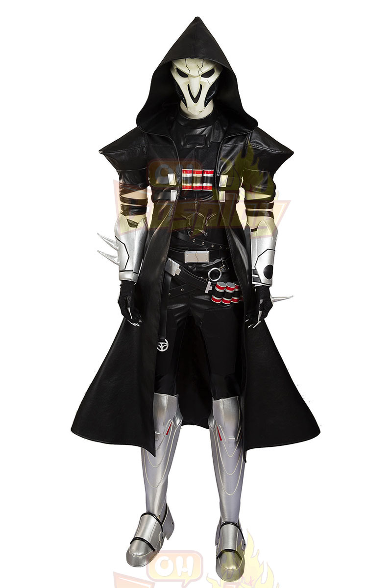 overwatch reaper cosplay costumes full set. Black Bedroom Furniture Sets. Home Design Ideas