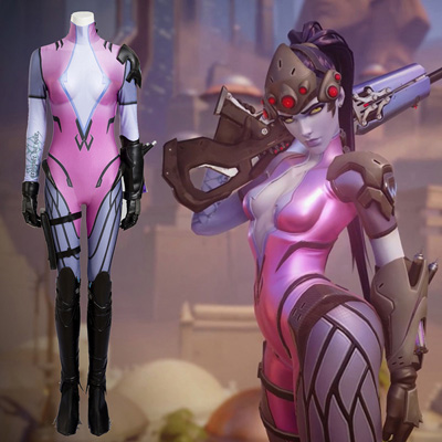 Costumi Carnevale Ow Overwatch Emily Widowmaker Cosplay Suit Zentai Set Completo