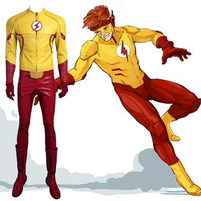 Flash New Man Yellow Cosplay NZ Zentai Suit Costumes Halloween NZ Costumes