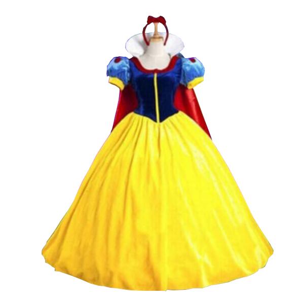 Dame Snehvide Luksuriøs Kostume Halloween Cosplay Voksen Fastelavn