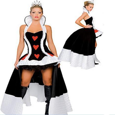 Enchanting Dronning af Hjerter Kostume Cosplay Tøj Fastelavn
