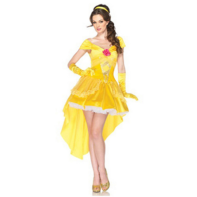 Vrouwen Beauty en the Beast's Prinses Belle Kostuum Cosplay Kleding