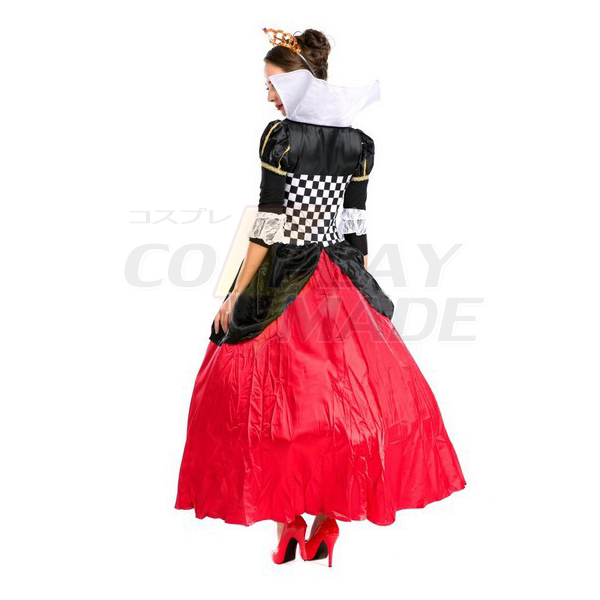 Neue Alice im Wunderland Faschingskostüme Cosplay Kostüme Herzkönigin Rot Königin Kostüme Weiblich Elegant