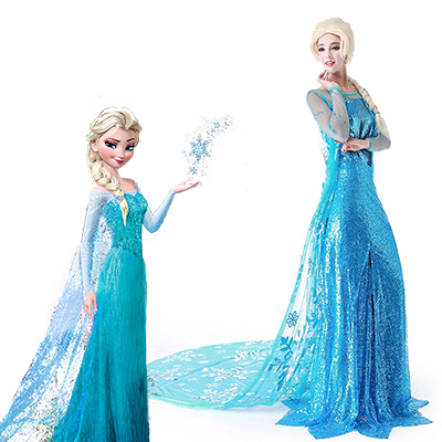 Frozen - O Reino do Gelo Vestiti Carnevale Elsa Donna - Vestidos up Elsa Fantasias Cosplay Roupas