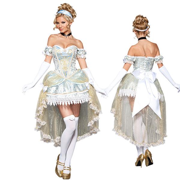 Passionate Prinsesse Kostume Cosplay Askepot Tøj Fastelavn