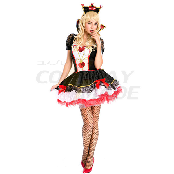 Fashion Adults Women Queen Design Cosplay Outfit Halloween Costume