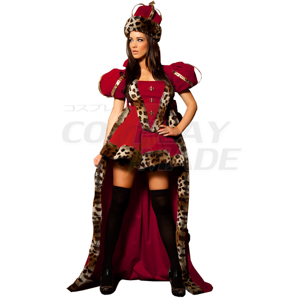 Rang Royal König Königin Faschingskostüme Cosplay Kostüme Halloween Damen
