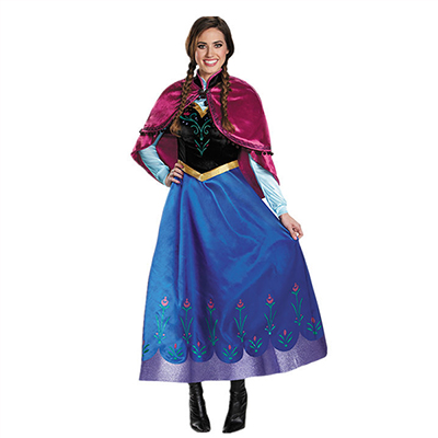 Frozen Eyekepper Birthday Party Anna Princess Dress Costume Adult Cosplay