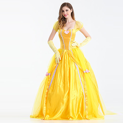 Adults Belle Beauty Beast Halloween Cosplay Costume