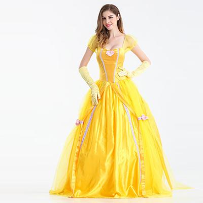 Volwassens Belle Beauty Beast Carnaval Cosplay Kostuum Halloween