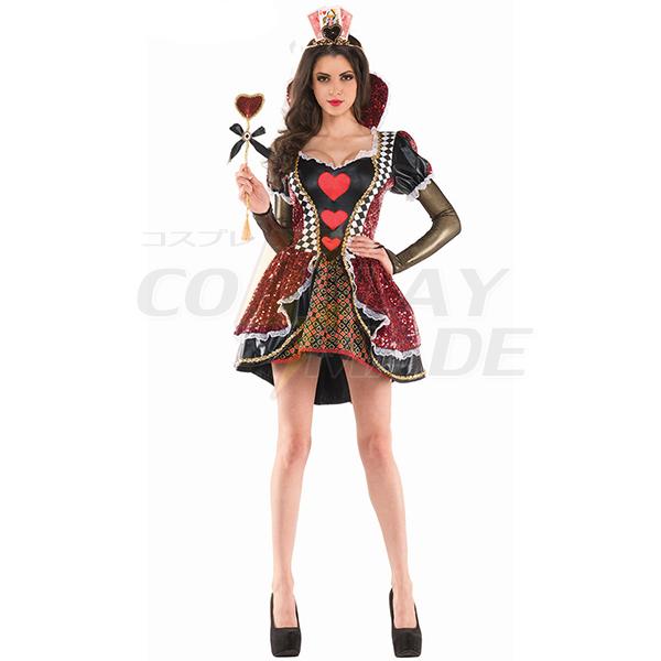 Erwachsene Alice im Wunderland Herzloses Königin Halloween Faschingskostüme Cosplay Kostüme