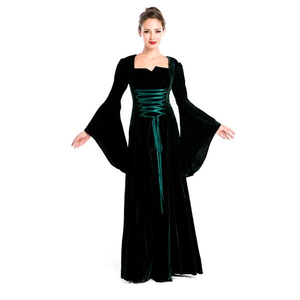 Vintage Medieval Renaissance Victorian Black Dress Halloween Cosplay Costume