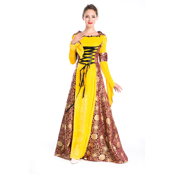 Erwachsene Mittelalterlich Robe Sexy Prinzessin Hofkleid Halloween Faschingskostüme Cosplay Kostüme Karneval