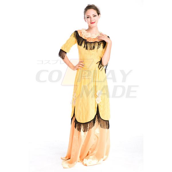 Damer Årgang Court Uniform Cosplay Halloween Komsammen Kostume Fastelavn