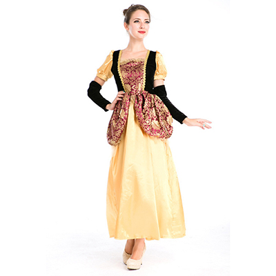 Retro Palace Greek Goddess Dress Princess Cloth Arabia Halloween Cosplay Costume