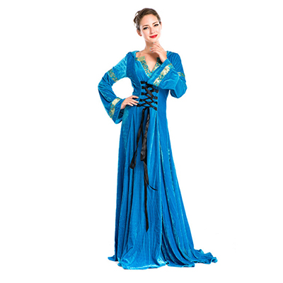 Mittelalterlich Hostess Vintage Lange Kleider Cosplay Kostüme Halloween Partei Kostüme