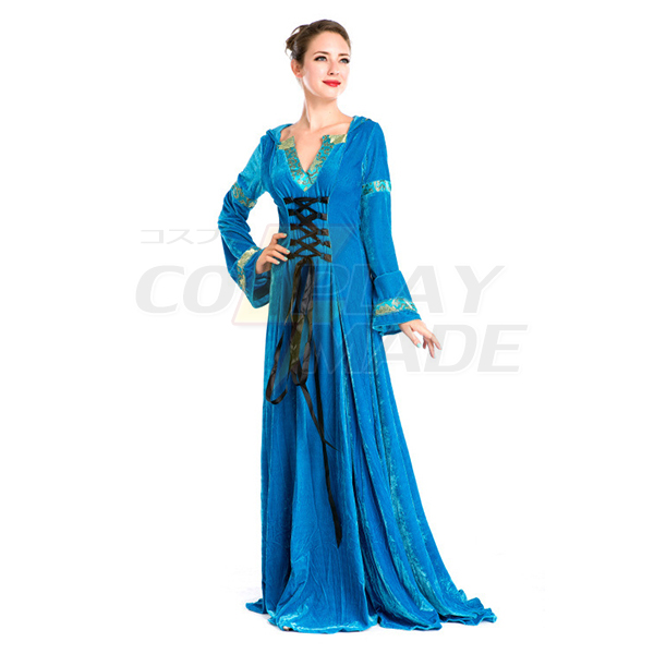 Medieval Hostess Vintage Long Dress Cosplay Halloween Party Costume