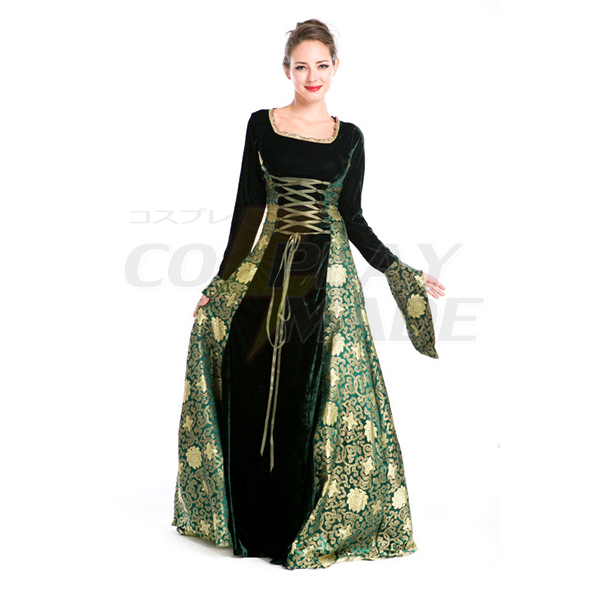 Sexet Church Gudinde Lang Kjoler Halloween Cosplay Komsammen Kostume Fastelavn