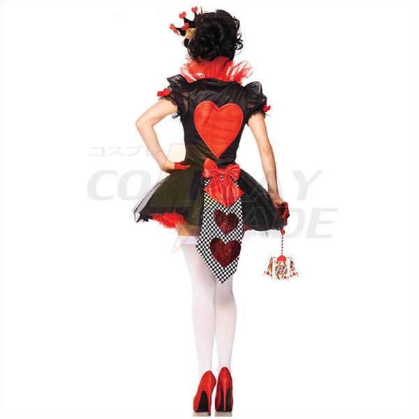 Populære Alice i Eventyrland Dronning af Hjerter Kostume Cosplay Halloween