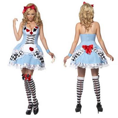 Fieber Fräulein Wonderland Kleider Halloween Faschingskostüme Cosplay Kostüme