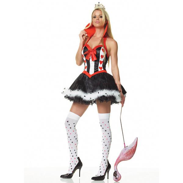 Leg Avenue Sexy Herzkönigin Kleider Halloween Faschingskostüme Cosplay Kostüme