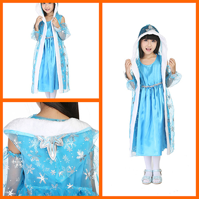 Popular Kids Queen Elsa of Arendelle Halloween Cosplay Costume