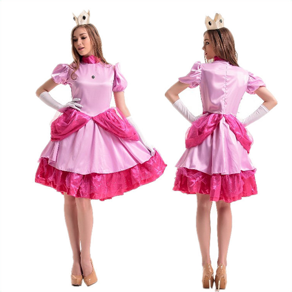 Popular Super Mario Bros.Princess Dress Halloween Cosplay Costume